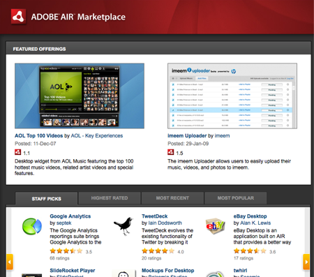 Adobe AIR Marketplace