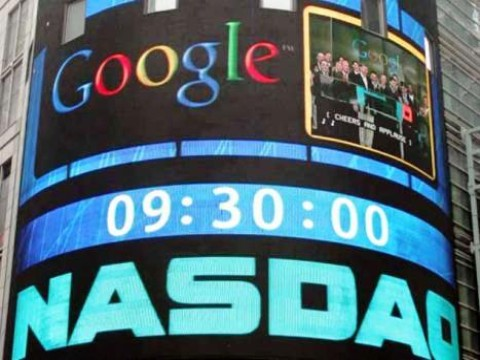brusco calo in borsa per Google